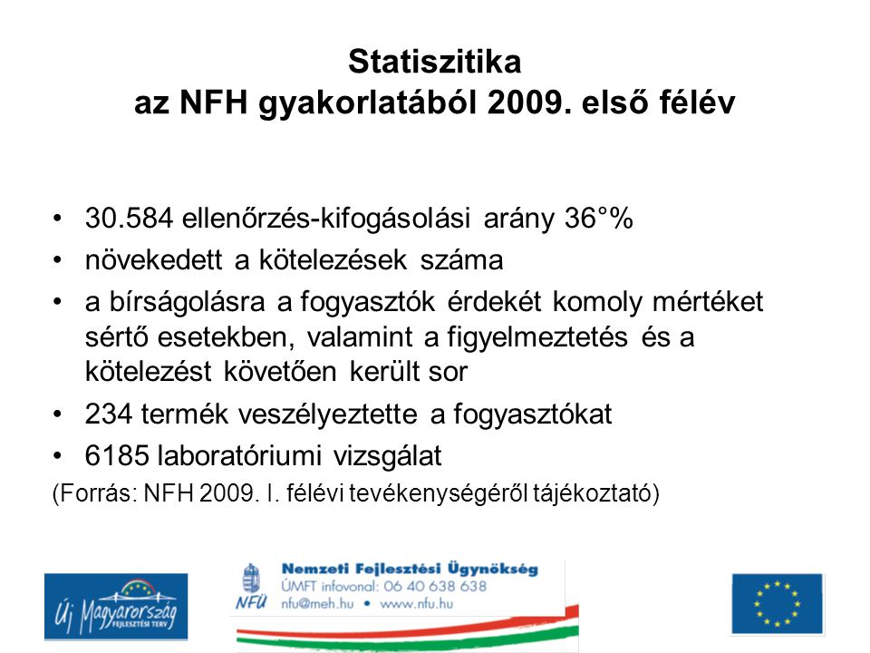 Statiszitika az NFH gyakorlatából 2009. első félév