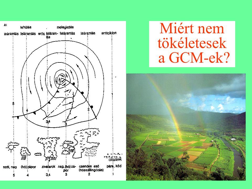 Miért nem tökéletesek a GCM-ek