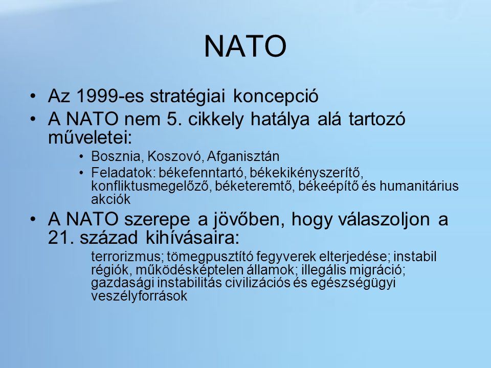 NATO Az 1999-es stratégiai koncepció