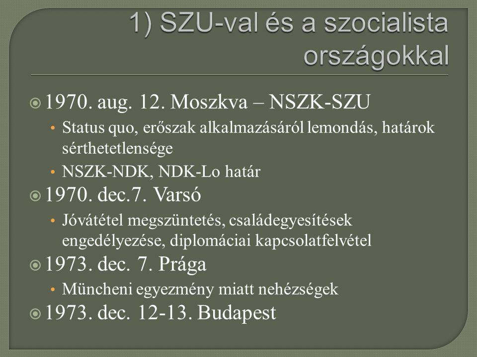 1) SZU-val és a szocialista országokkal