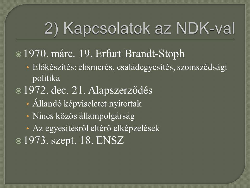 2) Kapcsolatok az NDK-val