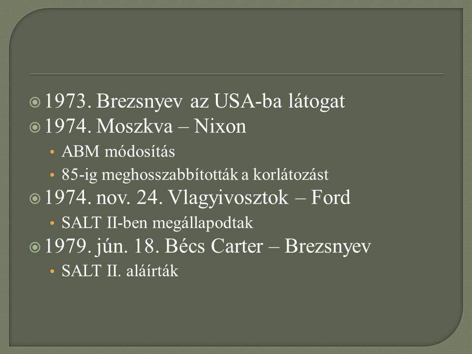 1973. Brezsnyev az USA-ba látogat 1974. Moszkva – Nixon