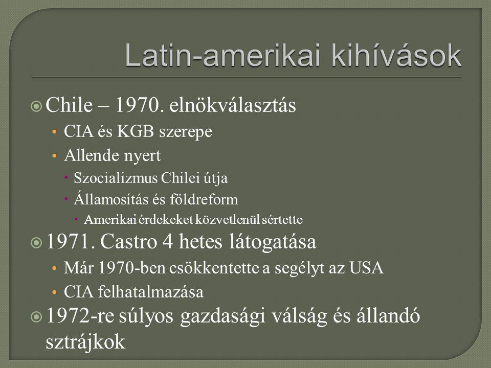 Latin-amerikai kihívások