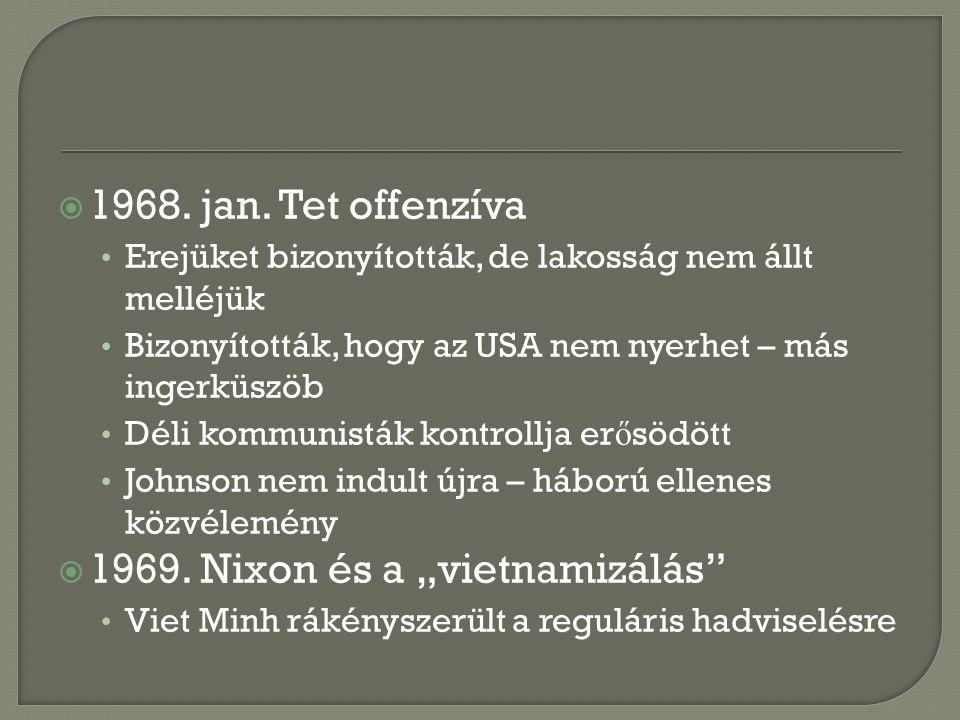 """1969. Nixon és a """"vietnamizálás"""