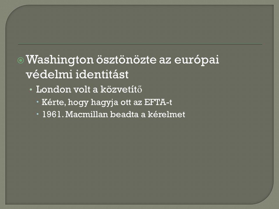 Washington ösztönözte az európai védelmi identitást