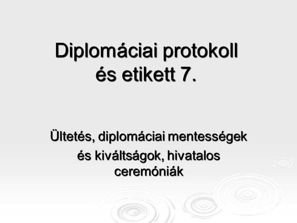 Diplomáciai protokoll és etikett 7.