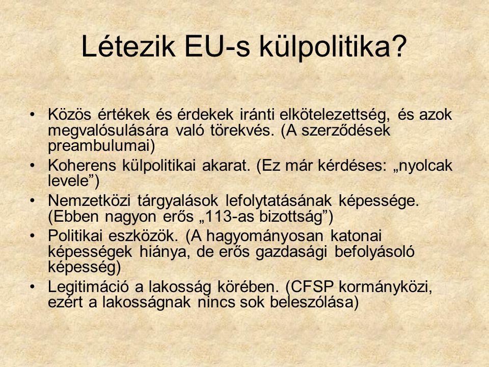 Létezik EU-s külpolitika
