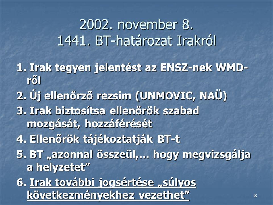 2002. november 8. 1441. BT-határozat Irakról