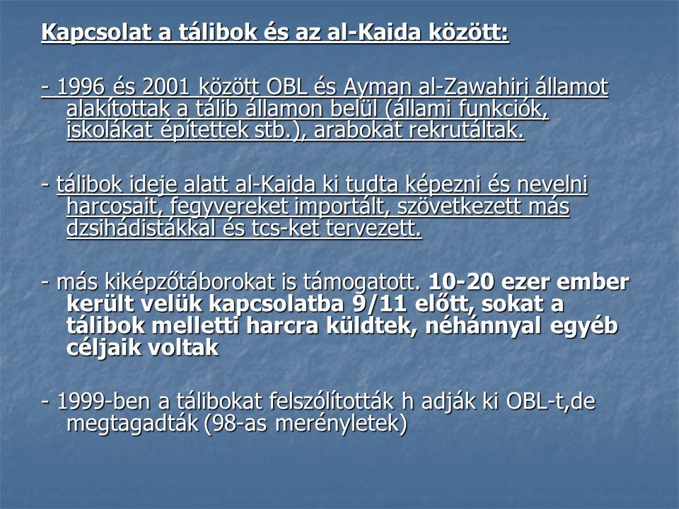 Kapcsolat a tálibok és az al-Kaida között: