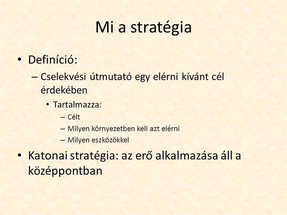 Mi a stratégia Definíció: