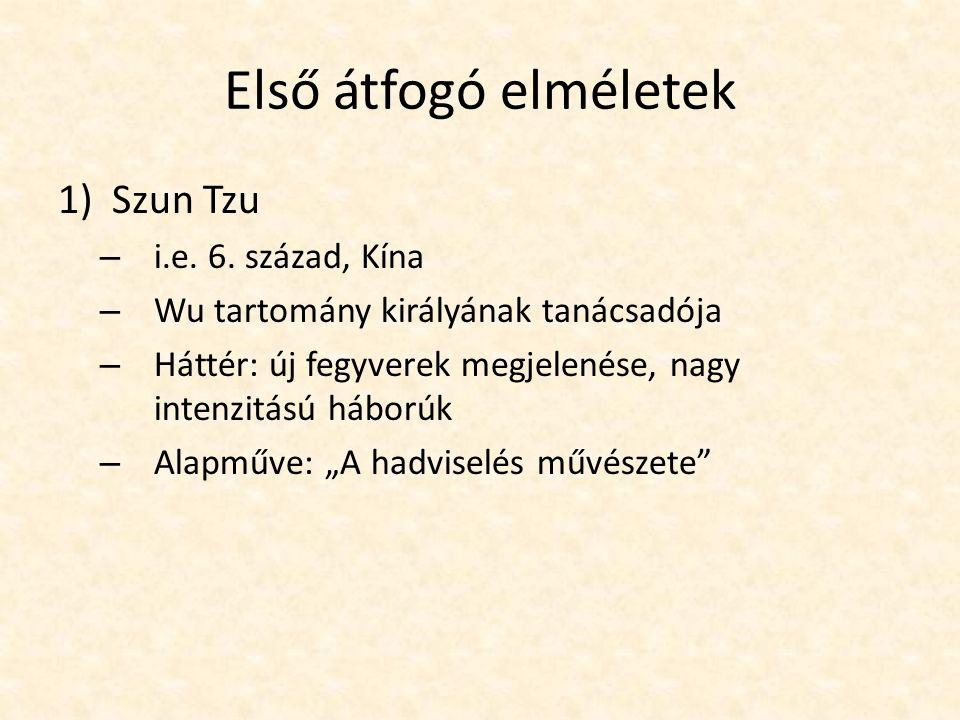 Első átfogó elméletek Szun Tzu i.e. 6. század, Kína