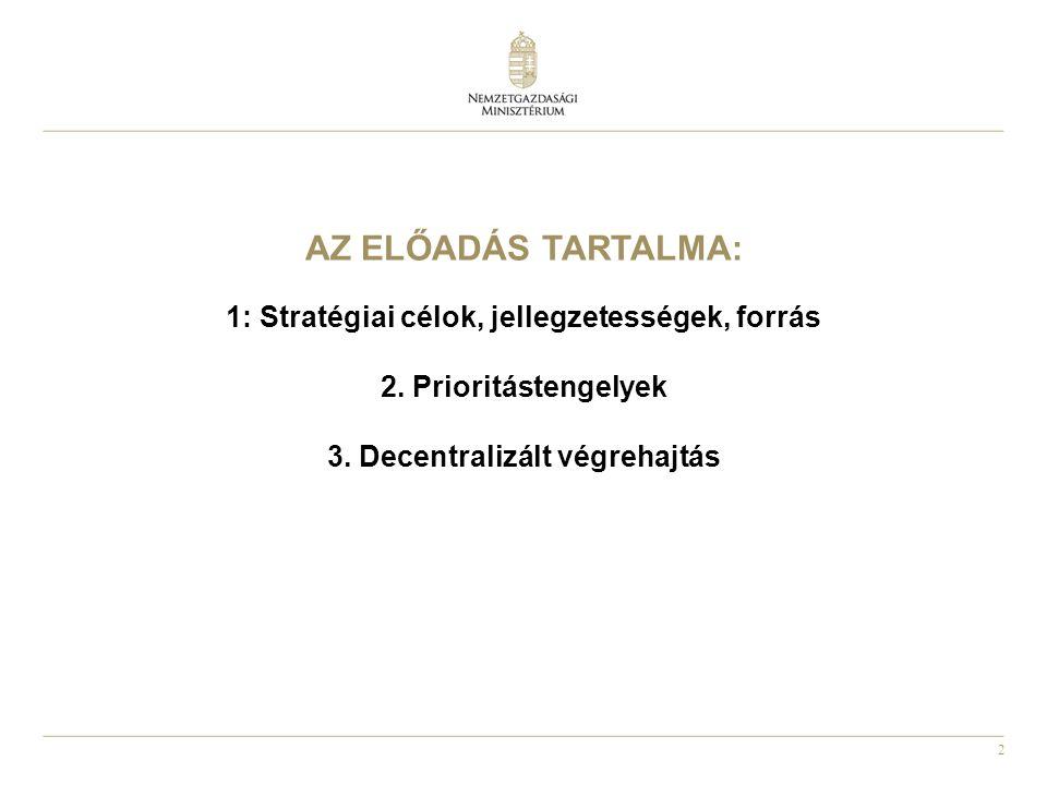 Az előadás tartalma: 1: Stratégiai célok, jellegzetességek, forrás 2