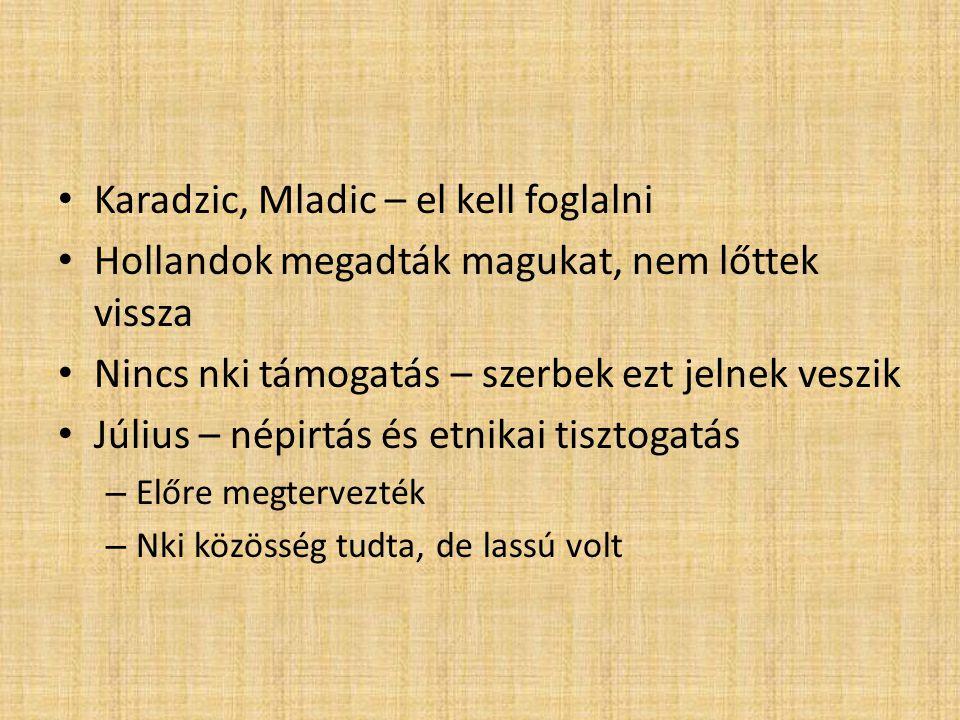 Karadzic, Mladic – el kell foglalni