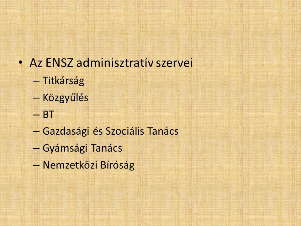 Az ENSZ adminisztratív szervei