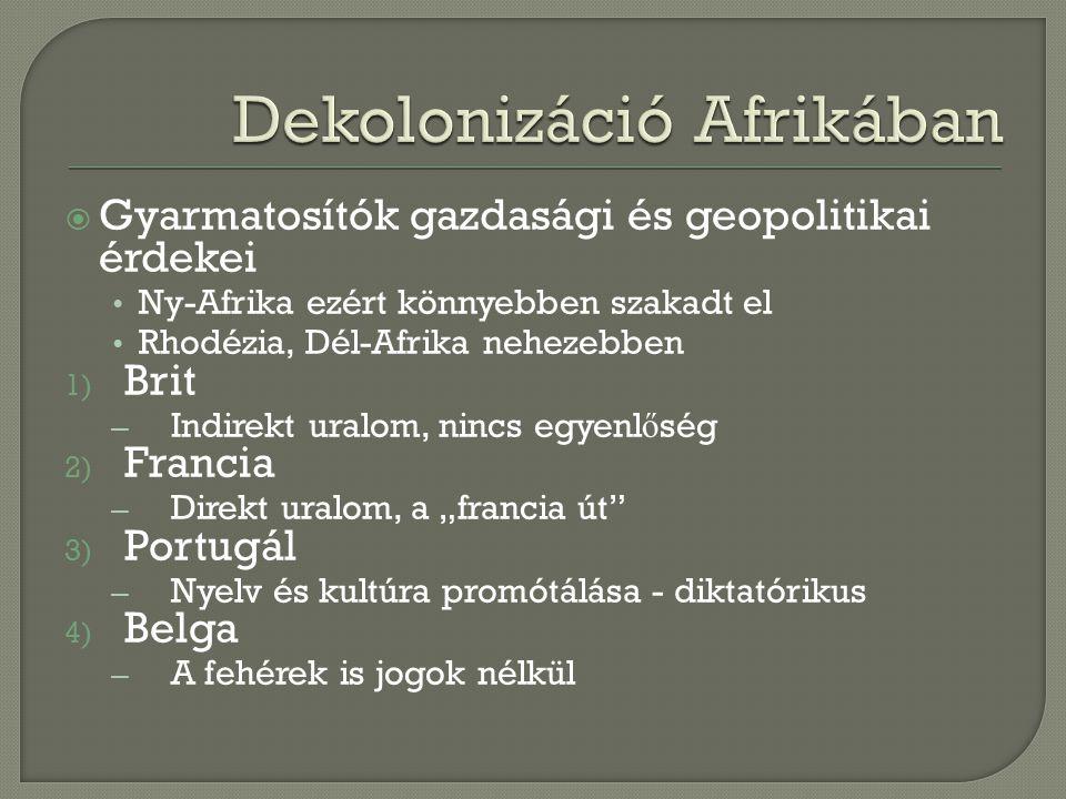Dekolonizáció Afrikában
