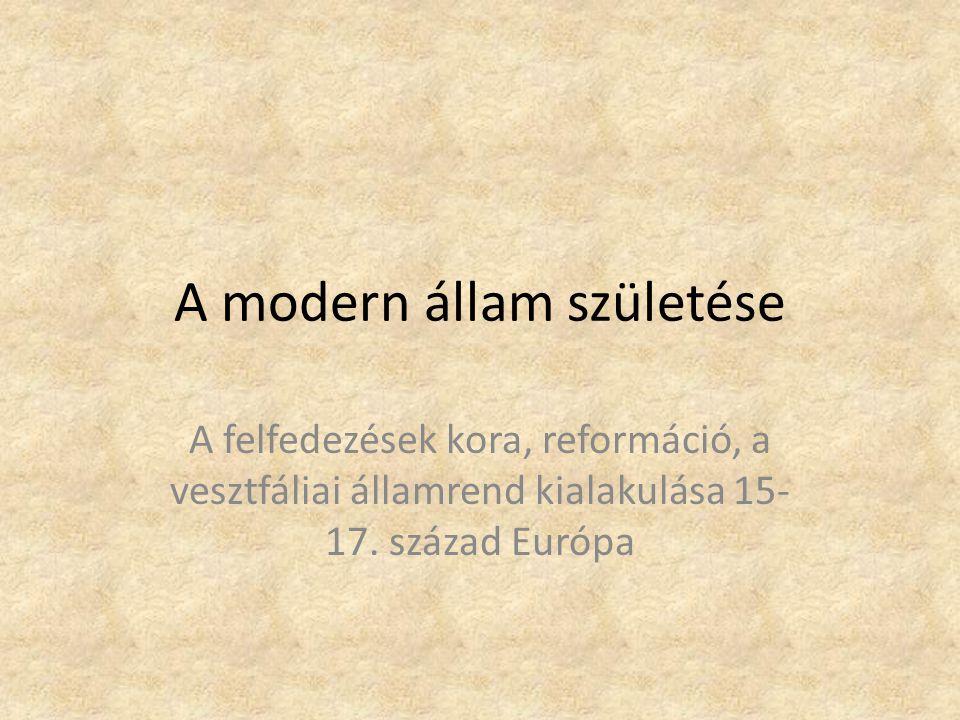 A modern állam születése