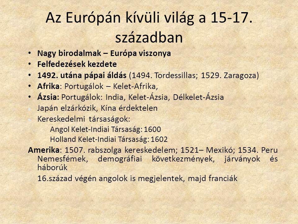 Az Európán kívüli világ a 15-17. században