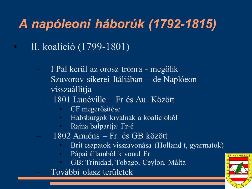 A napóleoni háborúk (1792-1815)