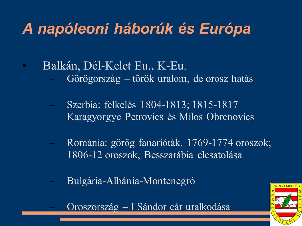 A napóleoni háborúk és Európa
