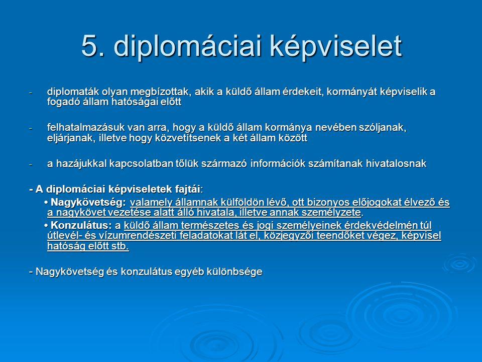 5. diplomáciai képviselet