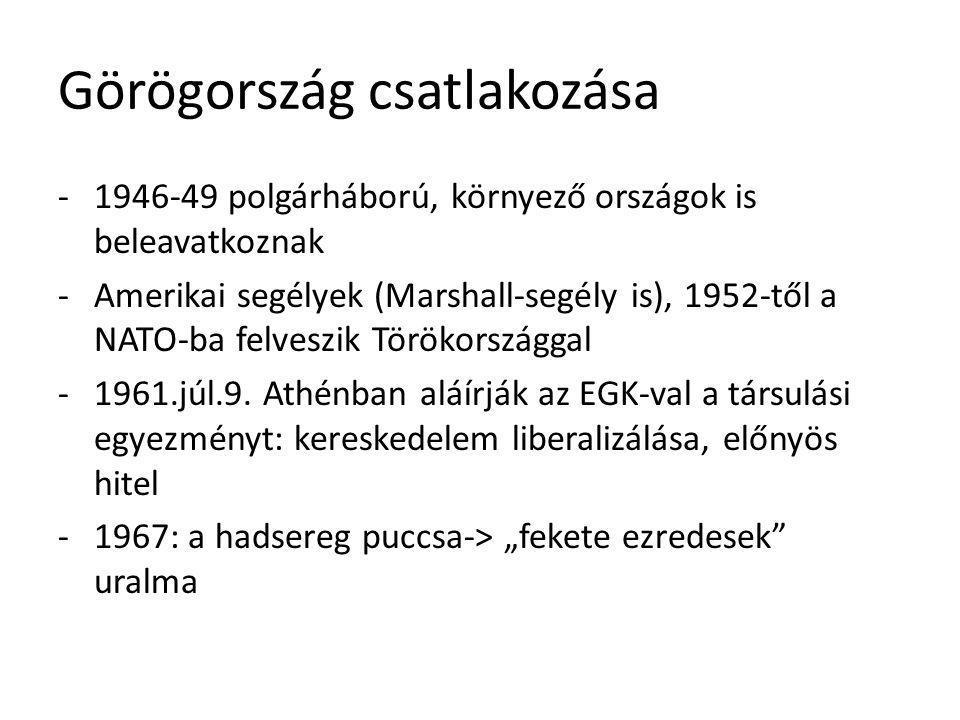 Görögország csatlakozása