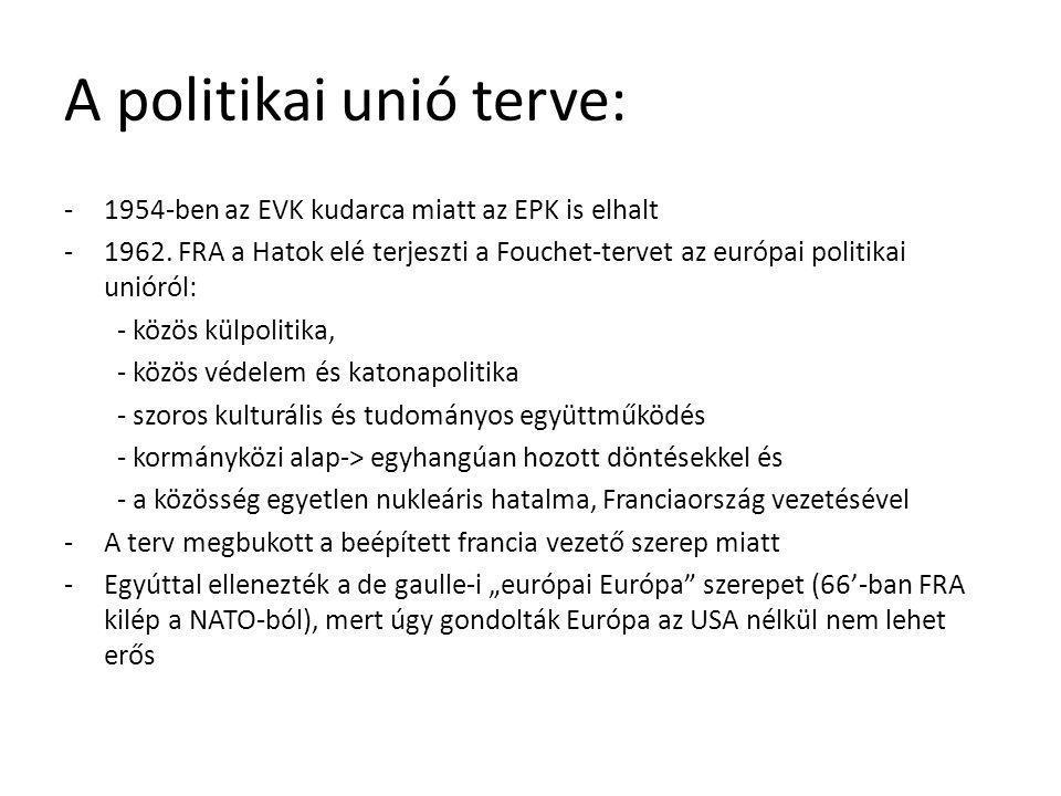 A politikai unió terve: