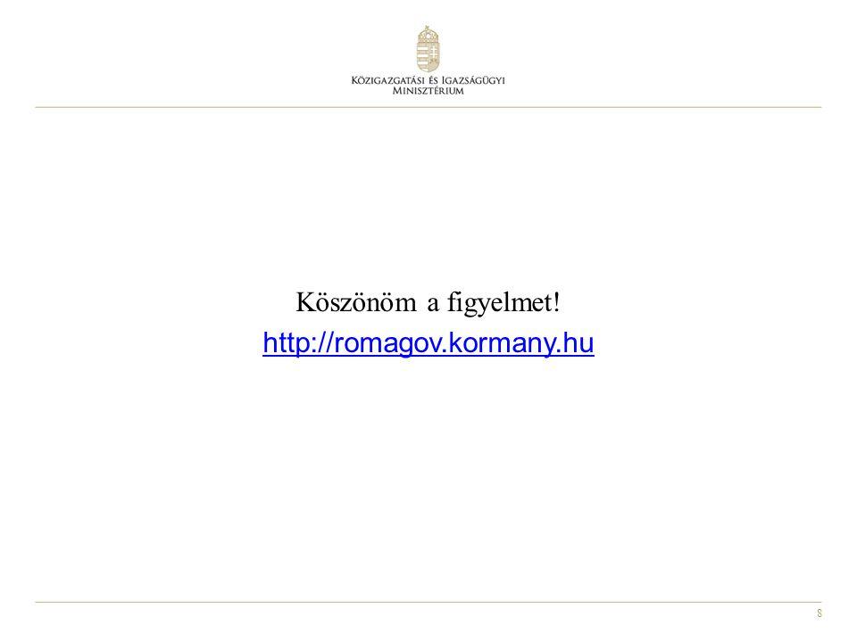 Köszönöm a figyelmet! http://romagov.kormany.hu