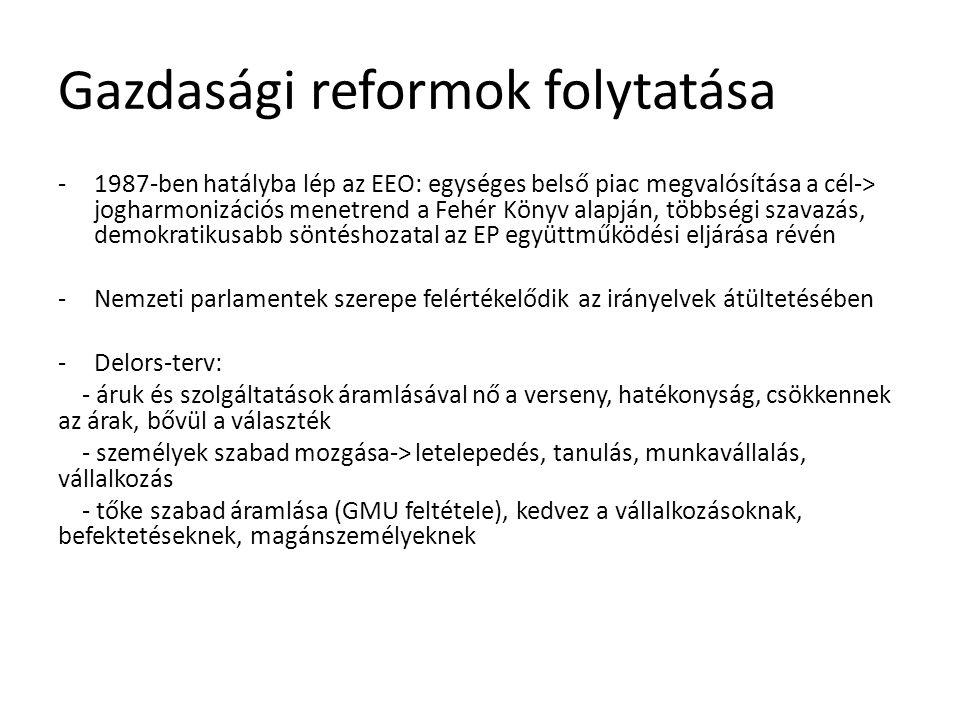 Gazdasági reformok folytatása
