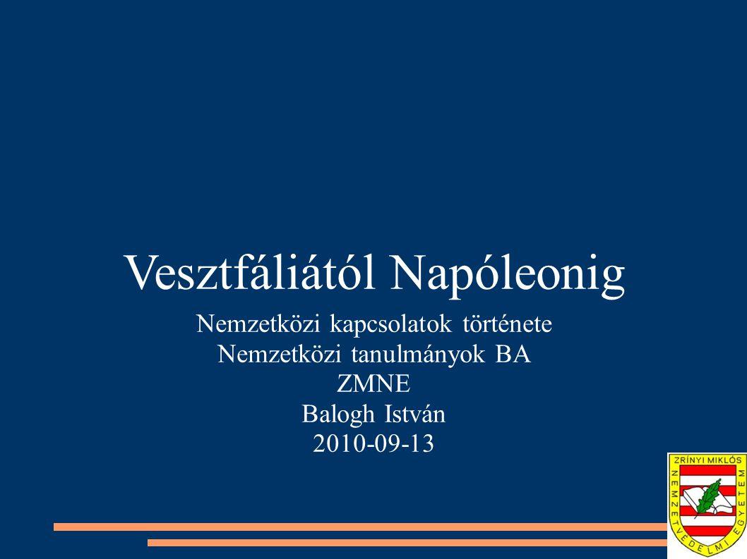 Vesztfáliától Napóleonig