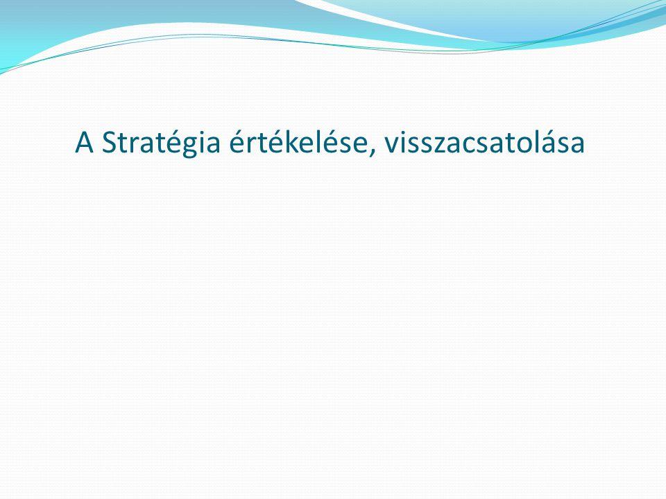 A Stratégia értékelése, visszacsatolása