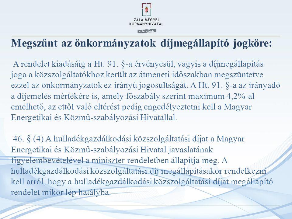 Megszűnt az önkormányzatok díjmegállapító jogköre: A rendelet kiadásáig a Ht.