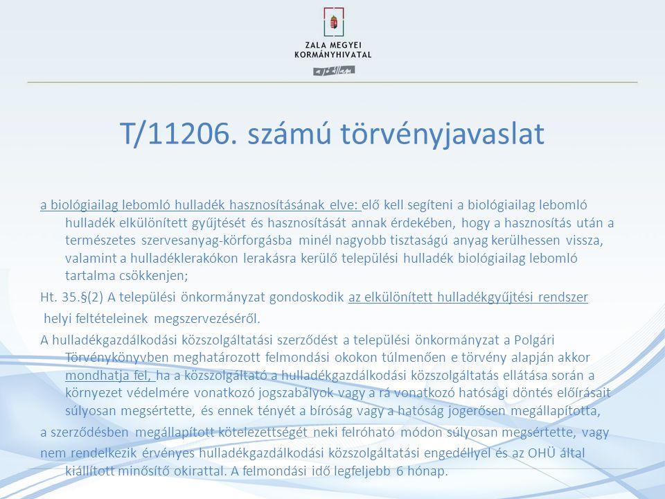 T/11206. számú törvényjavaslat