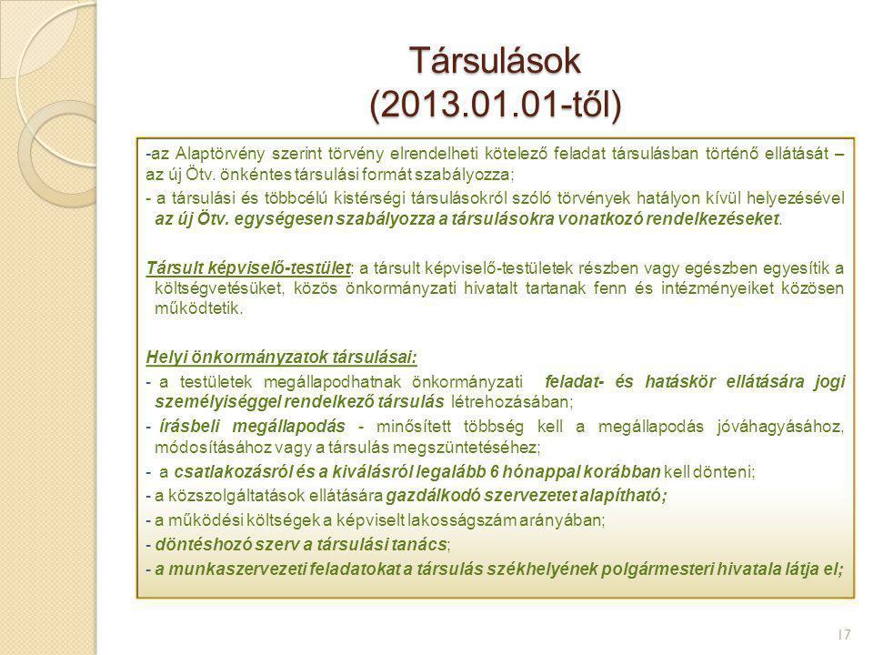 Társulások (2013.01.01-től)