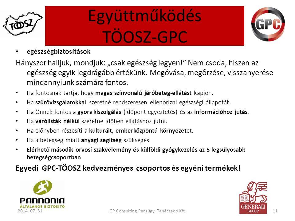 Együttműködés TÖOSZ-GPC