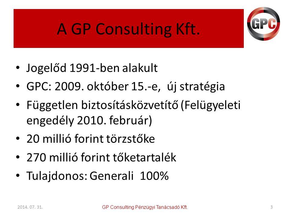 A GP Consulting Kft. Jogelőd 1991-ben alakult