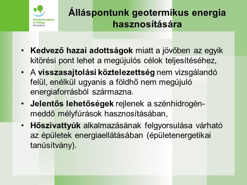 Álláspontunk geotermikus energia hasznosítására