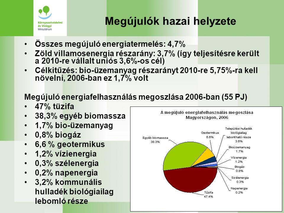 Megújulók hazai helyzete