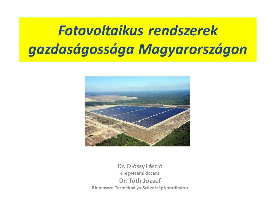 Fotovoltaikus rendszerek gazdaságossága Magyarországon