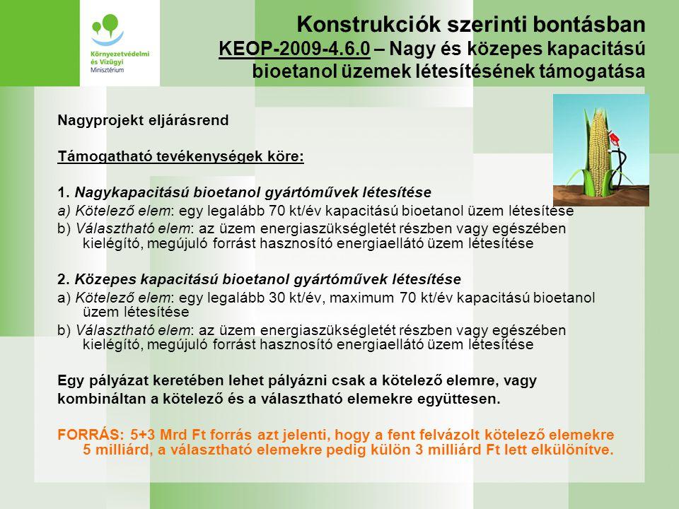Konstrukciók szerinti bontásban KEOP-2009-4. 6