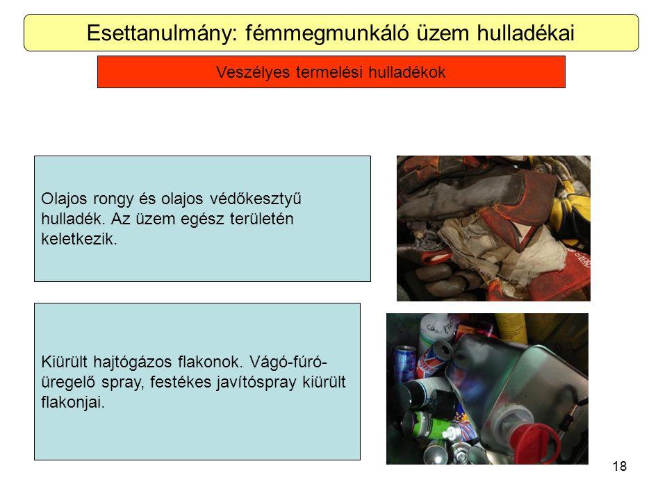 Esettanulmány: fémmegmunkáló üzem hulladékai