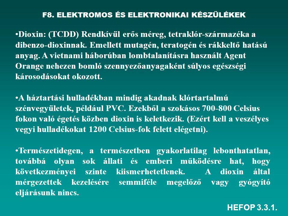 F8. ELEKTROMOS ÉS ELEKTRONIKAI KÉSZÜLÉKEK