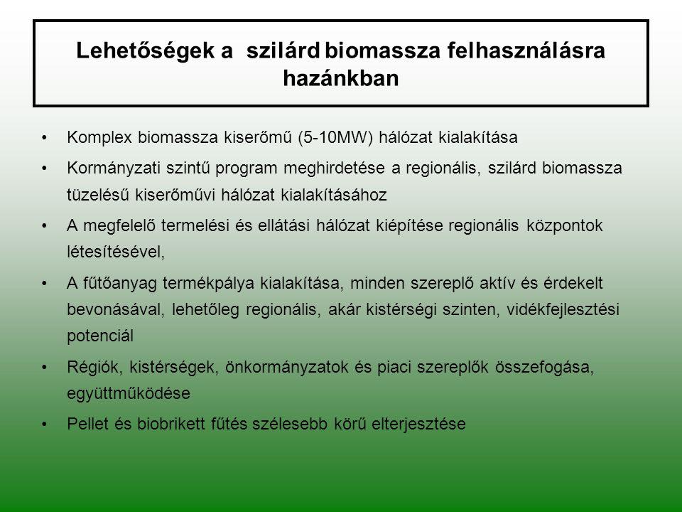 Lehetőségek a szilárd biomassza felhasználásra hazánkban