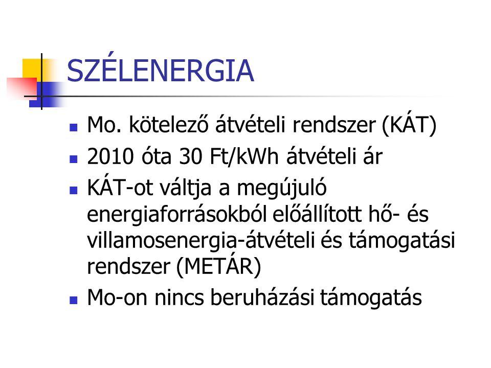 SZÉLENERGIA Mo. kötelező átvételi rendszer (KÁT)