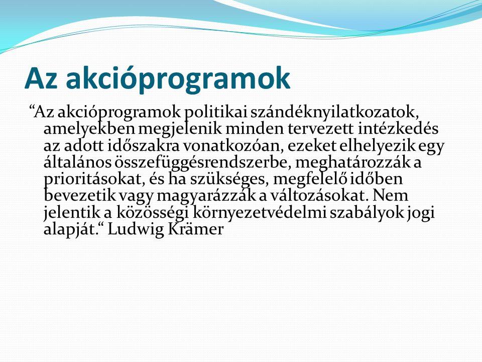 Az akcióprogramok
