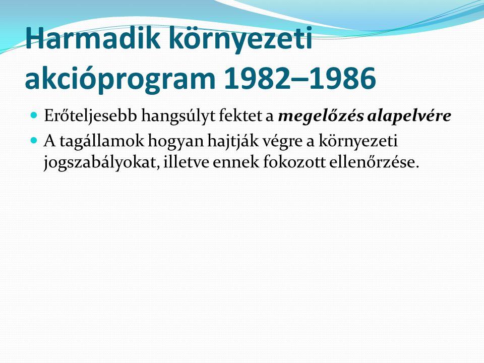 Harmadik környezeti akcióprogram 1982–1986