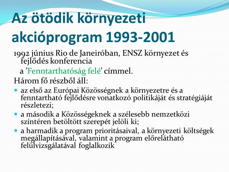 Az ötödik környezeti akcióprogram 1993-2001