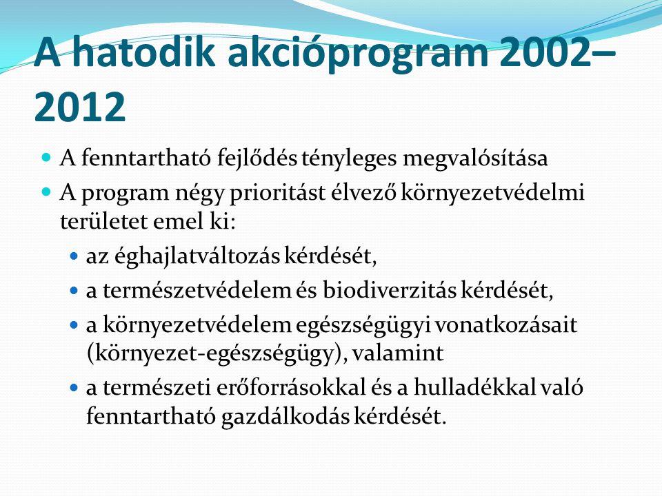 A hatodik akcióprogram 2002–2012