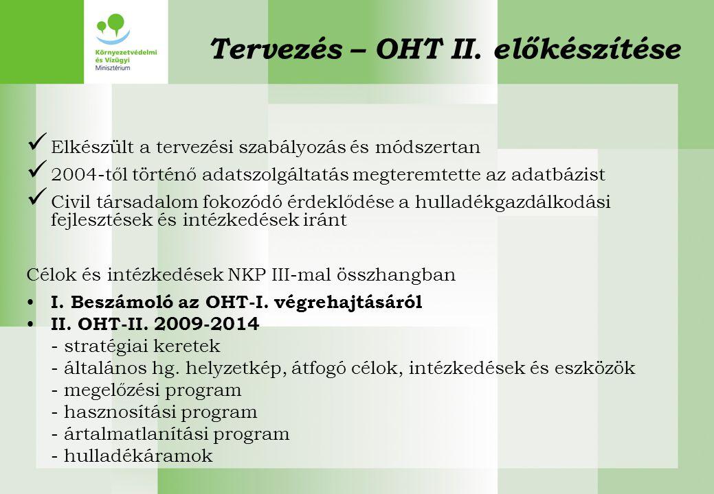 Tervezés – OHT II. előkészítése