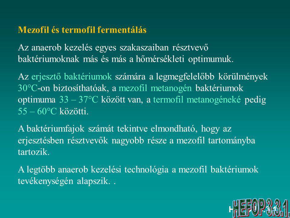 Mezofil és termofil fermentálás