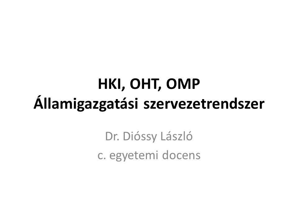 HKI, OHT, OMP Államigazgatási szervezetrendszer